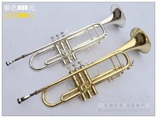 Bach Small Silver and Gold Plated Trumpet Adjustment B flat Brass trumpet professional trompeta LT180S43