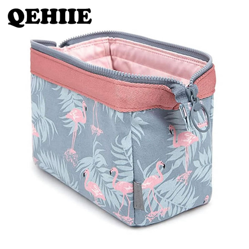 Cosmetic-Bag Toiletry-Kits Travel-Organizer Flamingo Waterproof Beautician Portable Women