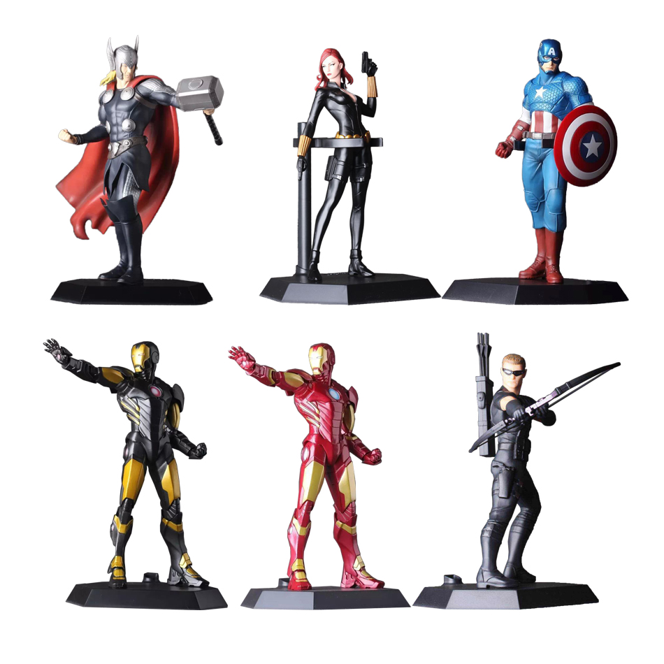 XINDUPLAN Marvel Shield America Avengers Thor iron Man Captain America Black Widow Hawkeye Action Figure Toys 22cm Model 0595 avengers iron man black panther hawkeye captain america vision black widow pvc action figure collectible model toy boxed