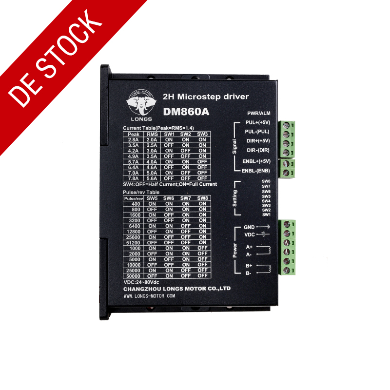 Germany Stock EU Free ship 1PC Stepper motor driver digital controller DM860A peak 7 8A 256