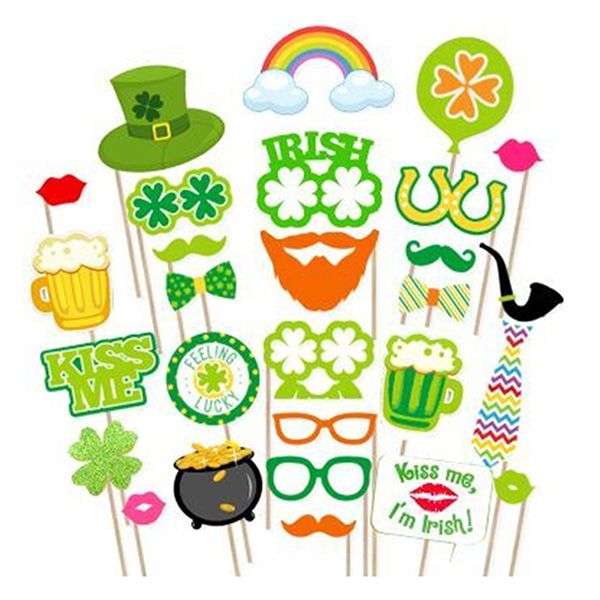 27pcs Photo Booth Props For Irish Beer Festival St Patricks Day