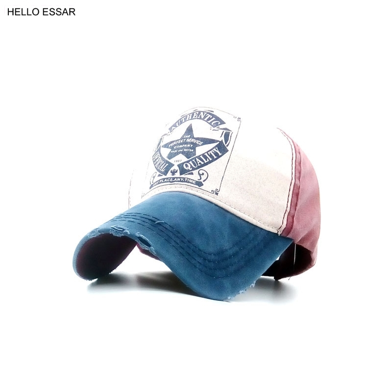 Summer 5 five-pointed star alphabet printing golf baseball cap outdoor sports shade duck tongue hole hat C1094