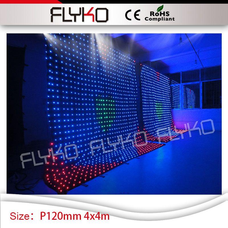 roof top ceiling star light 4m*4m xxx viedo led portable dance P12 led dj video curtain