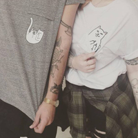H681 Street Style Punk Fashion T Shirt Letters Print Women Grey Tees Cotton O Neck Casaul