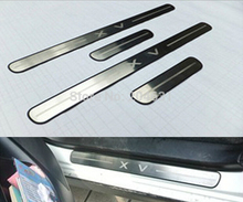 For SUBARU XV 2012 2013 2014 Door Sill Scuff Plate Sills Guards welcome pedal Threshold pad tread plate fast air ship