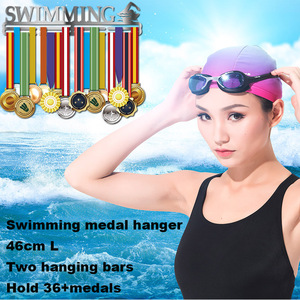 Image 1 - Ze stali nierdzewnej wieszak na medal do pływania Medal wyświetlacz wieszak pływać uchwyt na medal