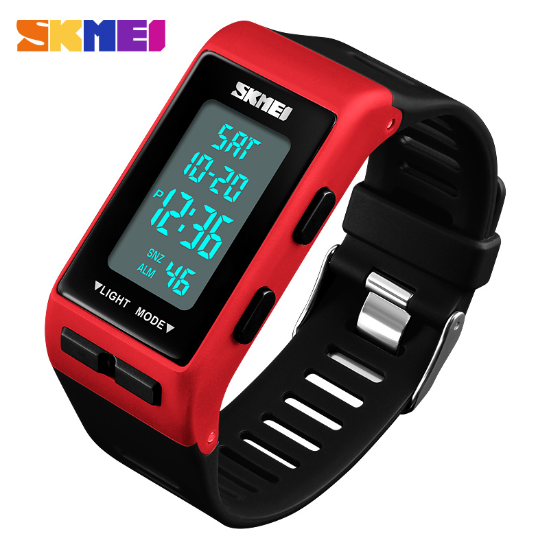 Men Women LED Digital Wristwatches Relogio Masculino Feminino Waterproof Sports Fashion Simple Dial Mens Watches SKMEI 2018