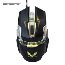 цена на ZERODATE X900 7 Buttons USB Wired Gaming Mouse Mechanical Computer PC Mouse Mice 3200DPI  LED Backlight for LOL DOTA2 Computer