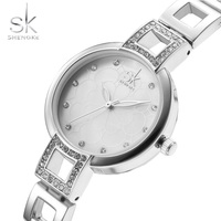 Shengke Luxury Brand Women Watches Diamond Dial Bracelet Wristwatch For Girl Elegant Ladies Quartz Watch Female