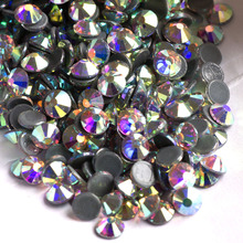 Sample Packing 2058HF All Sizes AB Hot Fix Rhinestones Crystals Flatback Strass Iron Rhinestone For Clothes Motif Clothing