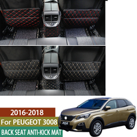 For Peugeot 3008 5008 4008 GT 2016 2017 2018 2019 Car Seat Protector Side Edge Protection Mat Anti Child Kick Pad Accessories