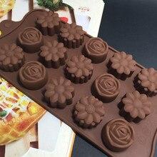 Hohlraum Silikon Blume Rose Schokolade Kuchen Seife Mold Backen Ice Tray Mould Forma De Silikon Fondant Kaffee Schokolade Form