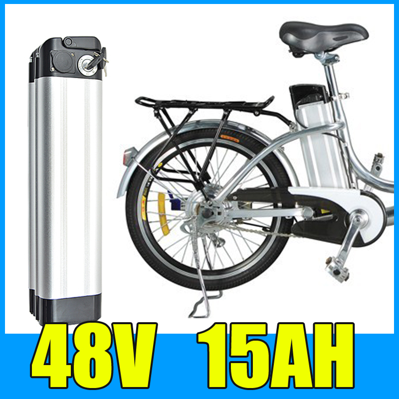 48V 15AH Lithium Battery , Aluminum alloy Battery Pack , 54.6V Electric bicycle Scooter E-bike Free Shipping free customs taxes super power 1000w 48v li ion battery pack with 30a bms 48v 15ah lithium battery pack for panasonic cell
