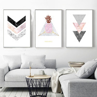 Marble Arrow Pineapple Wall Art Canvas Nordic Poster Prints Abstract Painting Wall Picture For Living Room