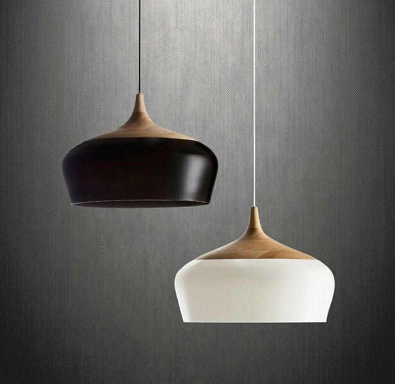 modern Simple solid wood chandelier European modern lighting single head bedroom restaurant bar creative nut chandelier цена и фото