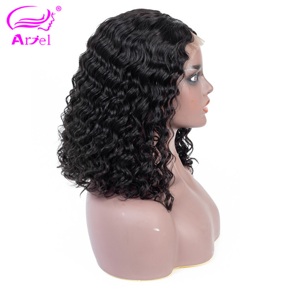 Deep Wave Wig Bob Lace Front Wigs 13×4 Lace Front Human Hair Wigs For Black Women Mongolian NonRemy Bob Wig Lace Wig Humain Hair