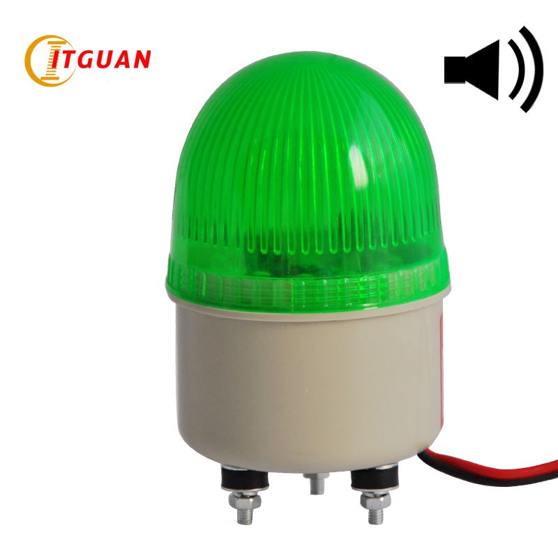 LTE-5071J Led Strobe Warning Light Alarm DC12V/24V AC220V Signal Emergency Lamp With Buzzer Sound 90dB Beacon Mini Light ltd 1101l dc12v led rotary warning lamp alarm police fireman car emergency strobe light vehicle beacon tower signal with ce rohs