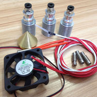 Reprap Prusa I3 3D Printer Diamond Hotend Multi Colors Hot End 3 IN 1 OUT Extruder, 0.4mm/ 1.75mm, No Printed Parts