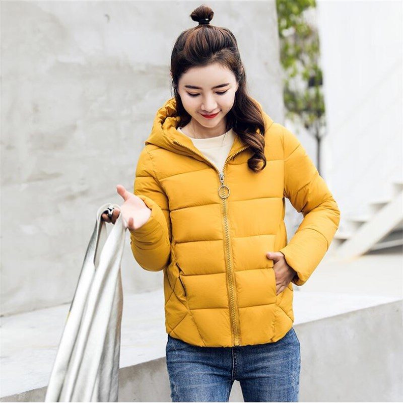 2018 winter   jacket   women hooded stand collar women winter coat   basic     jacket   autumn female outwear cotton padded casaco feminino
