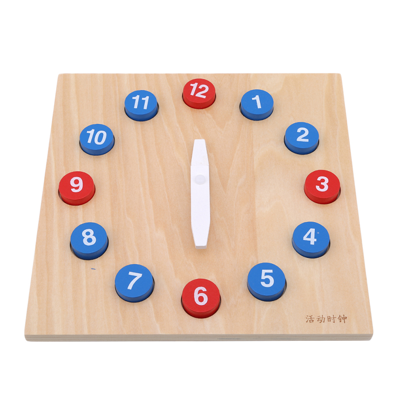 Daily Life Education Activity Clock Child Early Education Puzzle Wooden Building Block Toy Kindergarten Special Drop Shipping Learning & Education