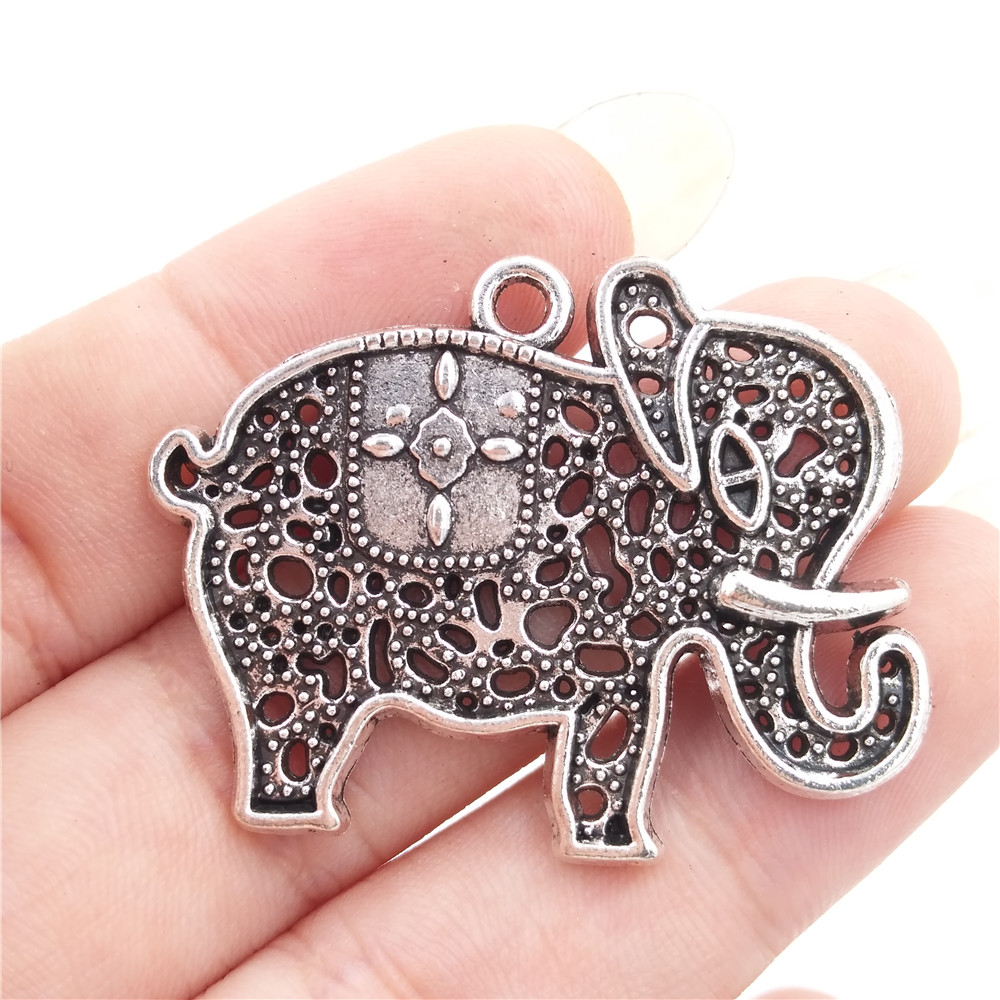 heart pendant patrick chain elephant and large necklace front products silver mavros zozo