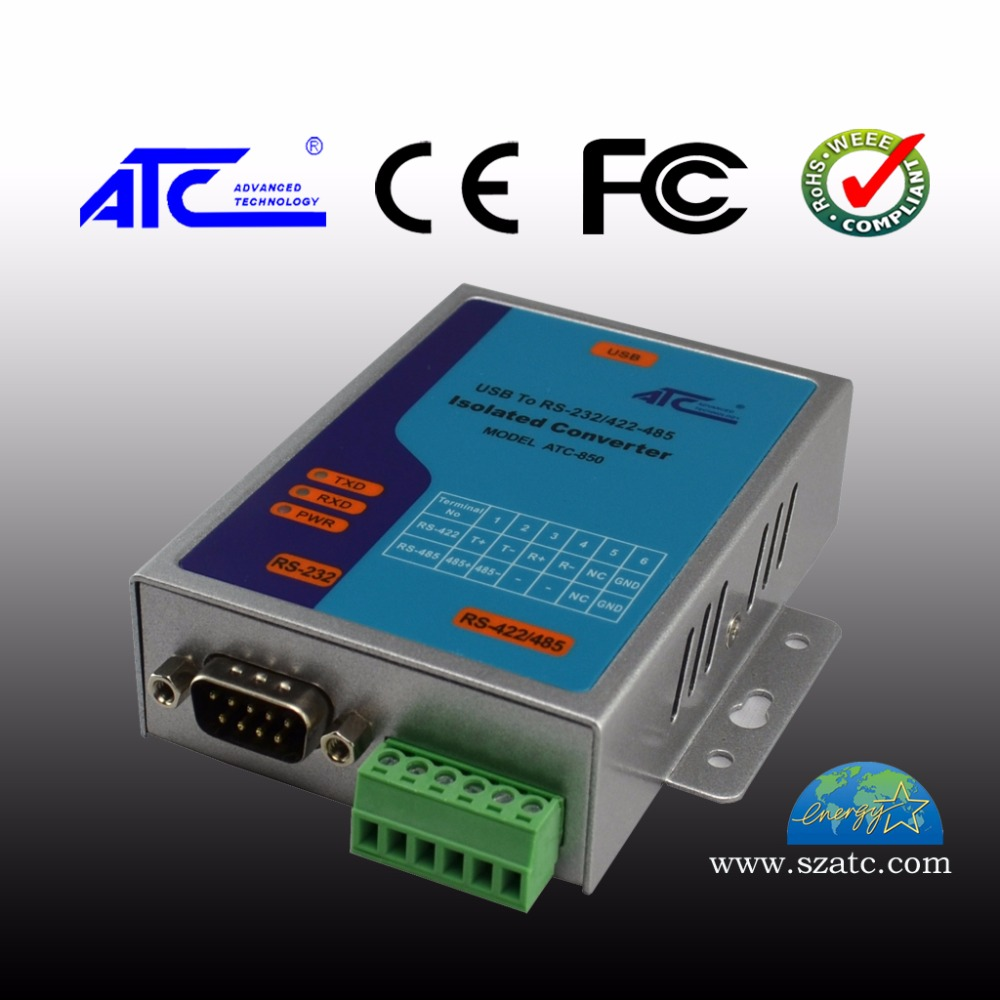 ATC-850 ATC-850rs232 To Rs485/422 Industrial Level Active High Speed Photoelectric Isolation USB To Serial Converter