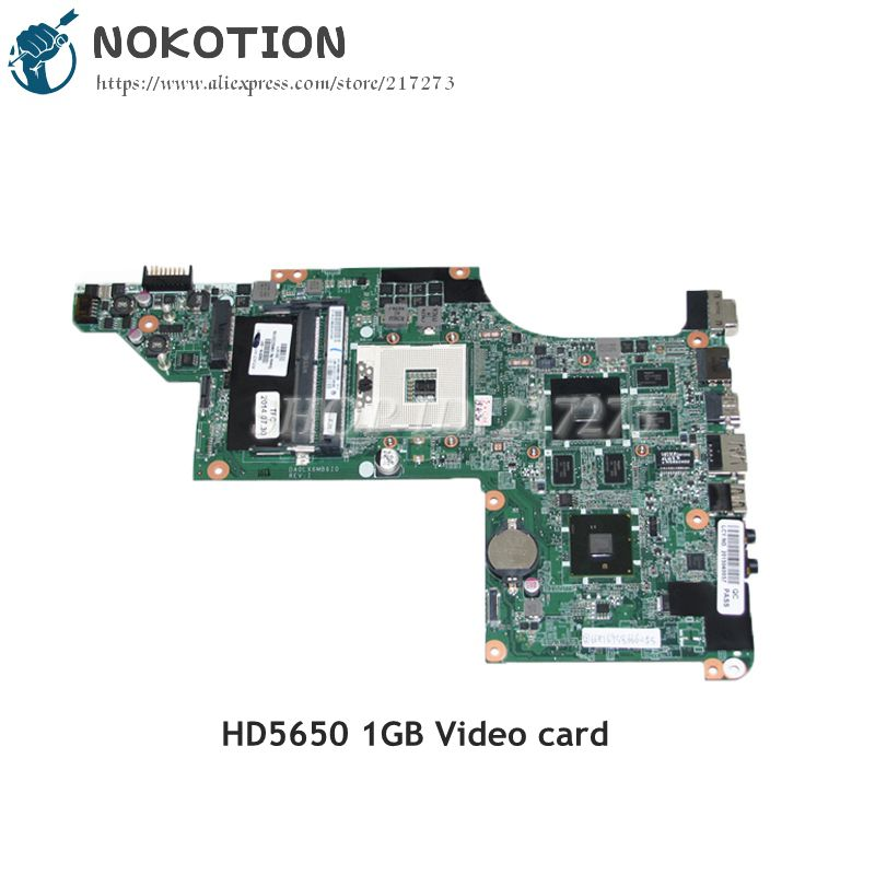 NOKOTION Laptop motherboard For HP Pavilion DV6 DV6-3000 Main Board DDR3 HD5650 1GB Support I7 CPU Only 630278-001 592186-001 657146 001 main board for hp pavilion g6 laptop motherboard ddr3 with e450 cpu