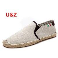 U Z Designer Slip On Breathable Mens Shoes 2017 Men S Canvas Casual Shoes Elastic Spring