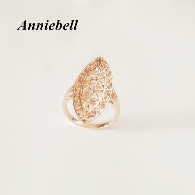 Anniebell Neue 585 Gold Frauen Ringe Naturliche Stein Gefullt Blatt