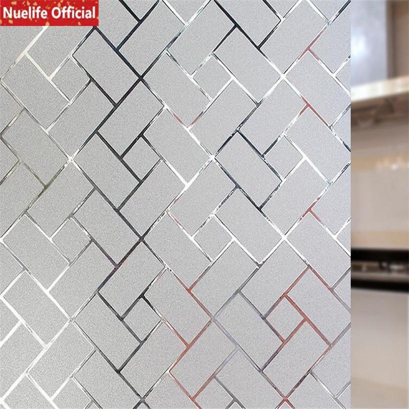 €15.45 11% de réduction|Nuelife 3D motif brique électrostatique verre  dépoli film opaque bureau salon enfant chambre salle de bains pvc fenêtre  ...