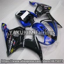 Впрыска ABS Обтекатели для YAMAHA R6 2003 2004 2005 мотоцикл обтекатель для YAMAHA YZF R6 2003 2004 2005 YZFR6 кузов под заказ хомут