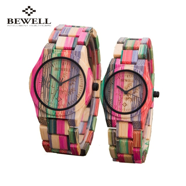 Mujeres BEWELL Relojes De Madera Top famosa Marca de Lujo de Reloj de Cuarzo Ocasional relojes de Madera Relojes de Las Mujeres relogio feminino