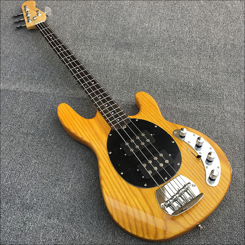 custom shop ash bass electric guitar rosewood fretboard 4 string bass guitar with 2 open. Black Bedroom Furniture Sets. Home Design Ideas
