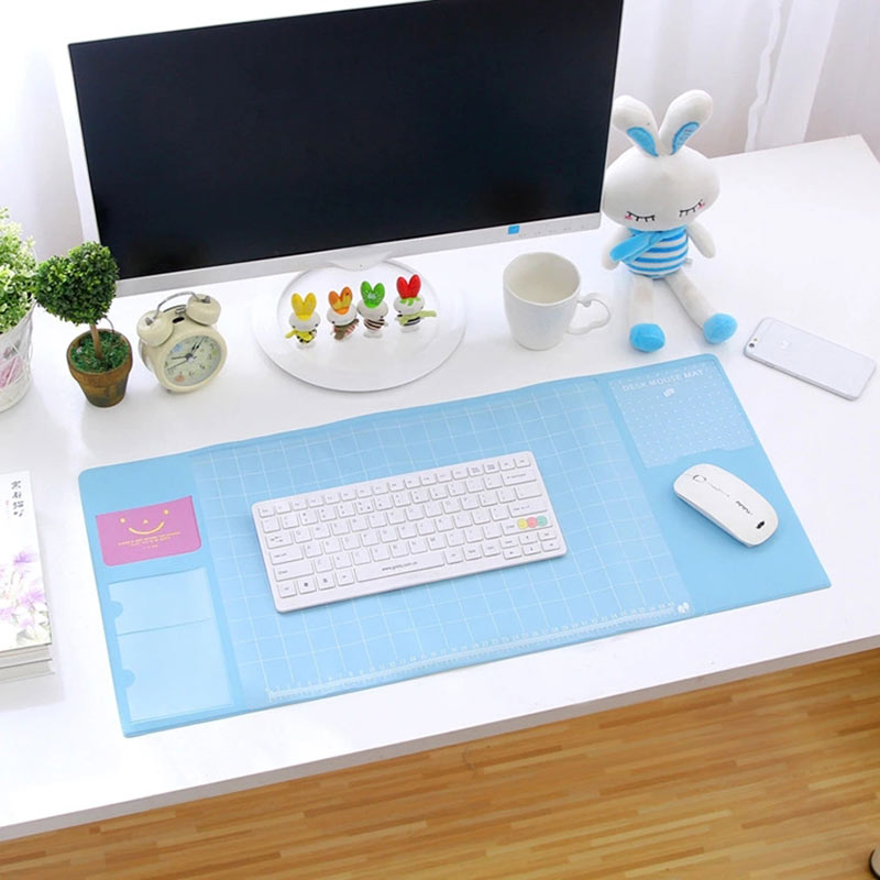 New Hot Cute Multi-function Computer Mouse Pad Desk Pad PVC Waterproof Laptop Mice Pads QJY99