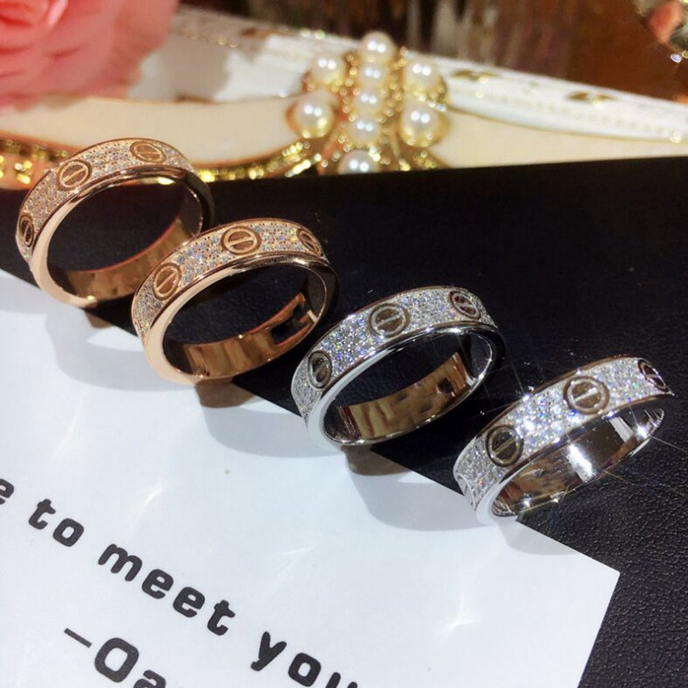 Hot Rock Out High Quality Micro Pave CZ Rings Women & Men Rose Gold and White Colors 925 Sterling Silver Ring For Love Gift new pure au750 rose gold love ring lucky cute letter ring 1 13 1 23g hot sale