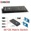 342pro 4x2 HDMI 1080P 4K x 2K HDMI настенный HDMI матрица 4x2 Переключатель сплиттер (4 в 2 выхода) ИК-пульт дистанционного управления матричный переключатель