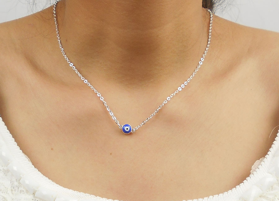 Evil Eye Necklaces Silver...