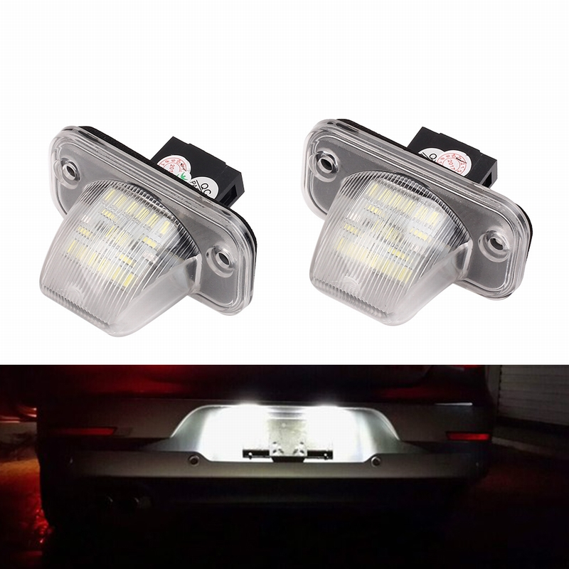 MALUOKASA 2x Error Free 18 SMD Number License Plate Light For VW T4 Transporter 1990-2003 Passat B5 Limousine Caddy Jetta/Syncro 2x error free led license plate light for volkswagen vw passat 5d passat r36 08