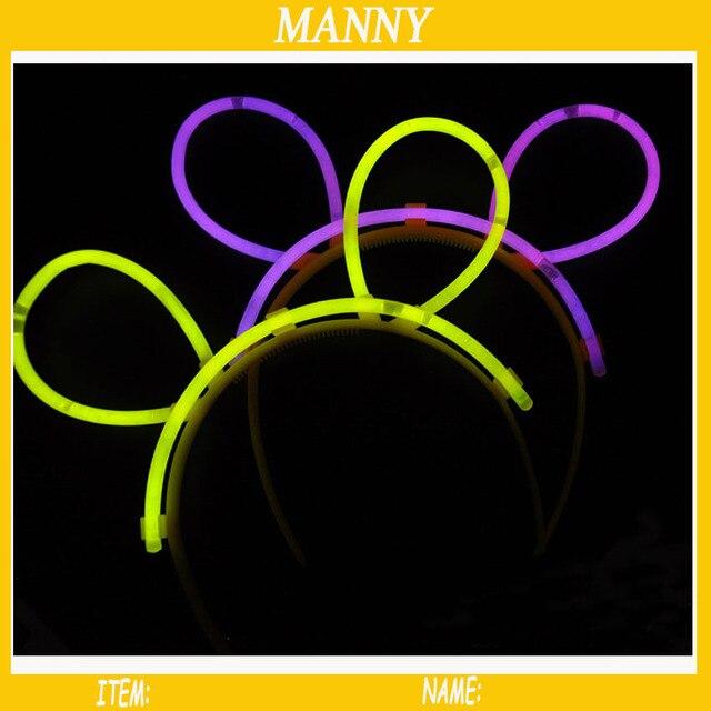 30 sets valentine s day party glow stick accessories headband