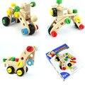 La Variedad de madera Tuerca Tuerca 30 unids Desmontaje Maniático de los Coches Nombination Cerebro Juego Juguetes Clásicos Para niños Juguetes Educativos Bloques de Construcción