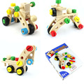 Wooden Variety Nut 30 pcs Disassembly Nut Car Nut Nombination Brain Game Toys Classic Children's Educational Toy Building Blocks