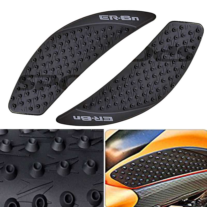 Rubber Traction Anti Slide Tank Pad Fit For Kawasaki ER-6N 2006-2012 08 10 11 09