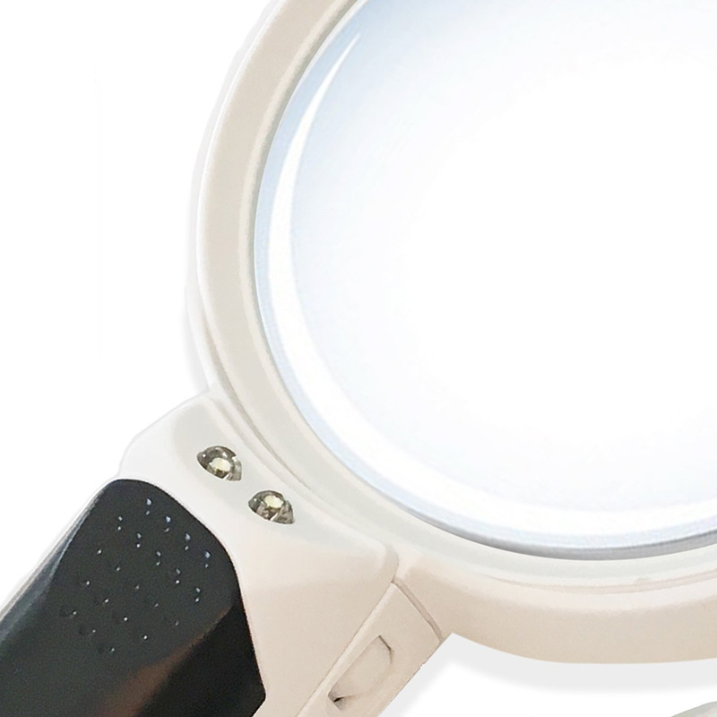 Handheld Magnifier LED Reading Magnifying Glass Lens Jewelry Loupe