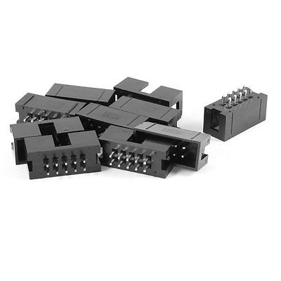 100 Pcs 2x5 Pin 2.54mm Pitch Dual Row PCB IDC Pin Headers DC3-10 hif3ba 50pd 2 54r mc headers