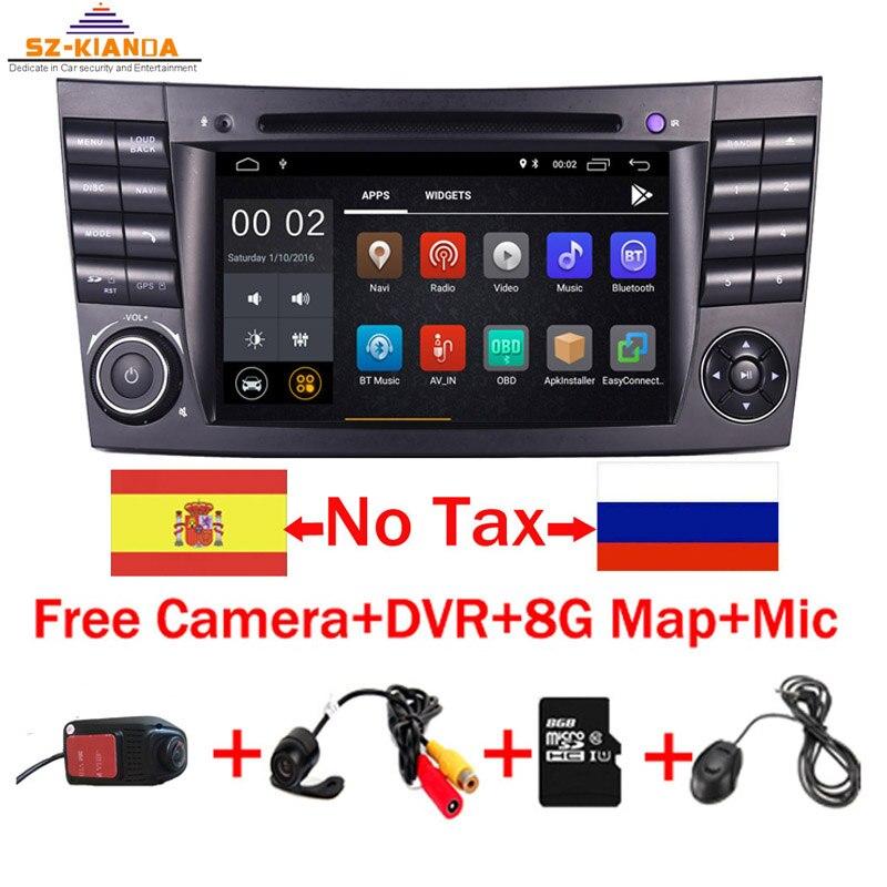 2019 Mais Recente Android 9.0 IPS Tela Sensível Ao Toque DVD Player Do Carro Para Mercedes Benz c-Classe W211 E200 E220 E300 e350 Quad Core Wifi Rádio
