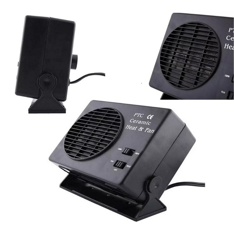 Image 4 - Mini Air Conditioner For Car 12V Car Portable 2 in 1 Electric Fan and Heater 300W Defroster Demister Quick Heating Speed-in Heating & Fans from Automobiles & Motorcycles