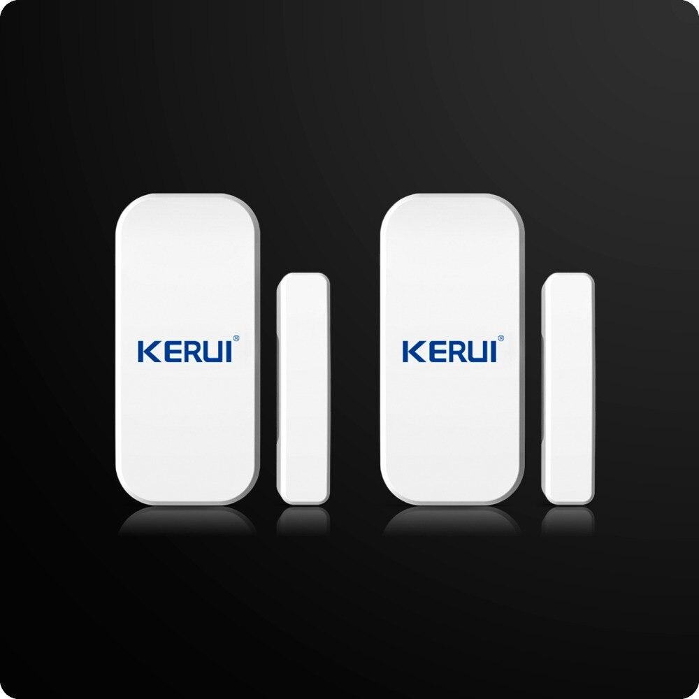 imágenes para 2 unids/lote Kerui Adicional En El Hogar Inalámbrico Detector de Ventana de La Puerta Para El Hogar Sistema de Alarma Teclado Táctil Batería Incluida