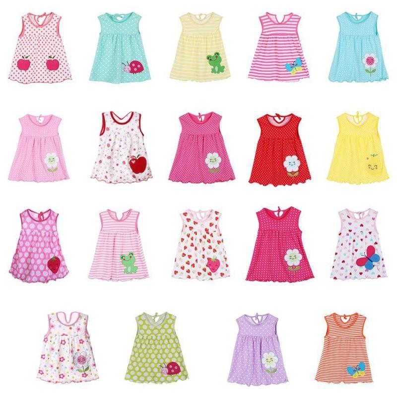 детское летнее платюшко с апликацими, разных цветов и ресунков фото