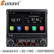 Euanvi Quad Core 2G RAM 1 Din Android 6.0 Auto DVD Player Radio Stereo Universal mit GPS Navi Bluetooth Multimedia-System 4G