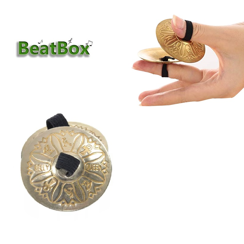 BeatBox 2 PCS Of Belly Dance Texture Pattern Finger Cymbals Zills Musical Instrument Parts & Accessories